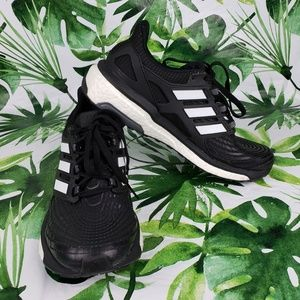 Adidas Energy Boost black white running shoes 8.5